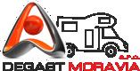 Obytné vozy – pronájem | Degast Moravia s.r.o. Logo